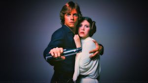 Carrie and Mark SKYWALKERS by Dave-Daring