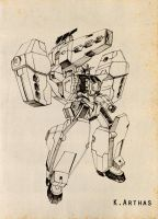 GN-005 Gundam Virtue by MrKingArthas