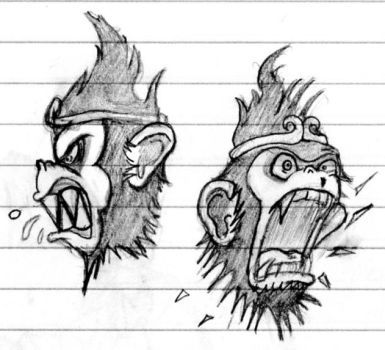 Monkey King Faces by MikesConcepts