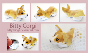Bitty Corgi 1 by Bittythings