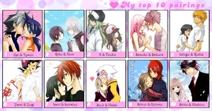 My Top 10 Fave Couples by Ebony-Rose13