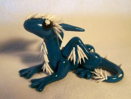Spiky Blue Dragon by ByToothAndClaw
