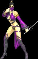 MK9 Mileena 2nd Outfit by artemismoonguardian