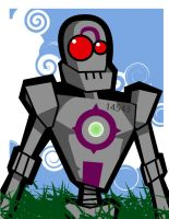 happy robot by guat