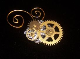 Steampunk whimsy Brooch by lilibat