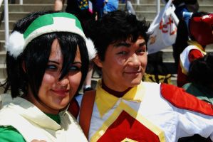 Toph and Bolin by YoruichiNyow