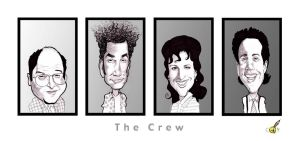 The Seinfeld Crew by claycox