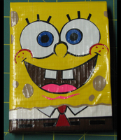 Spongebob Duct Tape Wallet by gotz-pierced
