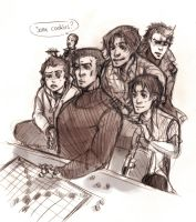 playing Scrabble sketch XD by XMenouX