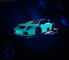 Lambo concept Blue by souhail88