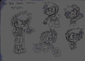 SONIC BOOM REDESIGN :CHARACTER: BRYAN by deykilledkenny