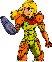 Samus Aran by Inkblot-Rabbit