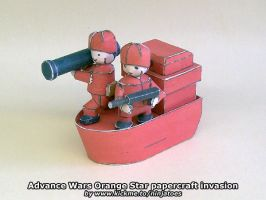 Advance Wars papercraft Orange Star invasion by ninjatoespapercraft
