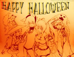 happy halloween ROR AND FRIENDS by ROYHACK