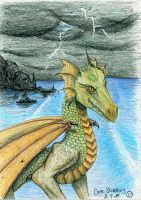 Dragon by the Ocean by Lioness123