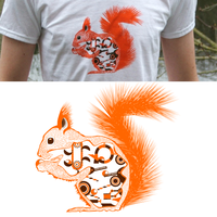 Squirrel Design T-shirt by OhLaso