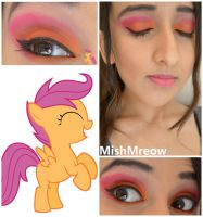 Scootaloo Inspired Makeup by MishMreow