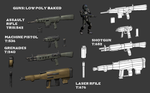BGMC 19 Colonial Weapons LowPoly by pickledtezcat