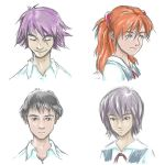 4 Fantastics (Evangelion sketches) by zoe-silver