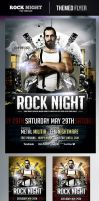 Rock Night Flyer Template by odindesign