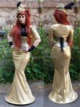 Golden victorian touched Dress by MADmoiselleMeli