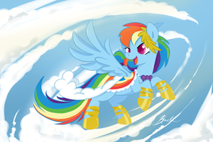 MLP - Rainbow Dash Gala revisited by caycowa