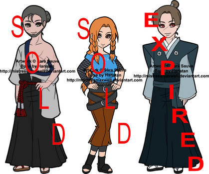 Mixed Leftover Naruto Adoptables 2 - CLOSED by mistressmaxwell