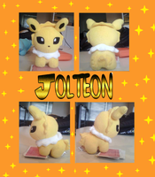 Chibi Jolteon Plushie by xXShadow-BlizzardXx