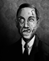Spooks Obit Portrait: Zombie Lovecraft by Ito-Saith-Webb