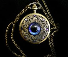 Purple Blue Super Shift - Regal Pocket Watch by LadyPirotessa