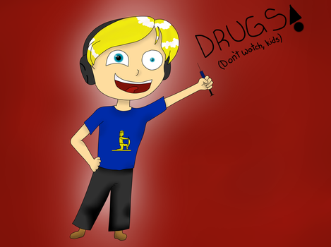 Pewdiepie found his Drugs :D by Lavender-chan