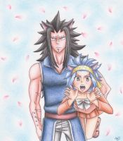Gajeel and Levy neko version by martylovespinkfloyd