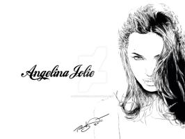 Angalina Jolie by bluedragon82