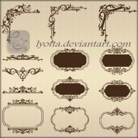 Ornaments design elements color LZ 31 by Lyotta