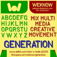 Generation font by weknow by weknow