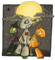 Halloween Robocritters by HapyCow