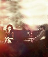Robert Pattinson / Kristen Stewart by marlenarobsten