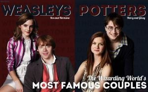 Wizarding Weekly Spread: The Weasleys and Potters by nhu-dles
