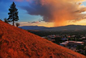 Sentinel Sunset in Missoula by Halcyon1990