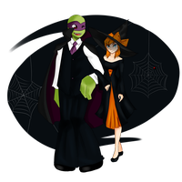 April and Donnie - Halloween by IdunnEternalYouth