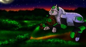 As the night is ending by Ymia-the-cheetah