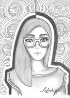 Girl with glasses by LippyBua23