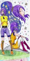 Friends forever (Athena and Grifas)(Oc's beyblade) by Grifessa