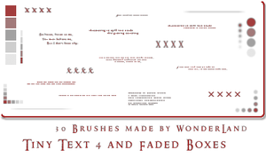 Tiny Text 4 + Fading Boxes by Foxxie-Chan