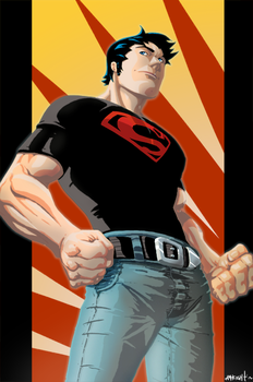 Superboy Print for LBCC by RayHeight