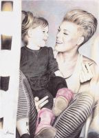P!nk and her daughter Willow by infinite-materials