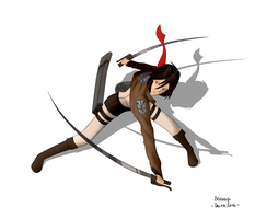 Mikasa, Shingeki no Kyojin - Process by beasays