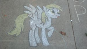Chalk Derpy by MintShard