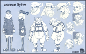 Aviator and Skydiver by dkirbyj