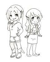 Ahi and Levi outfits by Ani-Sempai